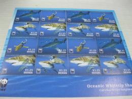 Grenada 2014 WWF Shark Fish Marine Life - Unused Stamps