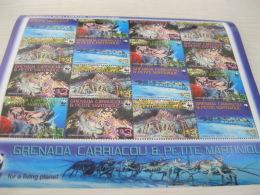 Grenada Carriacou & Petite Martinique WWF  Fish Marine Life Lobster - Unused Stamps