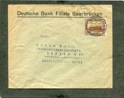 Deutsches Reich Saargebiet Brief 1926 - Germany