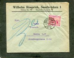 Deutsches Reich Saargebiet Brief 1924 - Germany