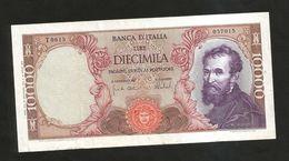 ITALIA - BANCA D'ITALIA - 10000 Lire MICHELANGELO (Firme: Carli / Barbarito - Decr. 27/11/1973) - [ 2] 1946-… : Repubblica