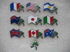 10 Pin's Sur La Coupe Du Monde De Rugby En 1989 - Rugby