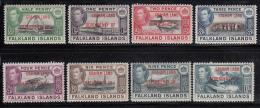 Falkland Islands Dependencies 1944 MH Scott #2L1-#2L8 Set Of 8 George VI Graham Land - Falkland