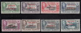 Falkland Islands Dependencies 1944 MH Scott #3L1-#3L8 Set Of 8 George VI South Georgia - Falkland