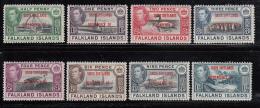 Falkland Islands Dependencies 1944 MH Scott #5L1-#5L8 Set Of 8 George VI South Shetlands - Falkland