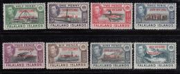 Falkland Islands Dependencies 1944 MNH Scott #5L1-#5L8 Set Of 8 George VI South Shetlands - Falkland