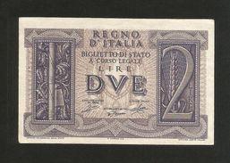 ITALIA - REGNO D' ITALIA - 2 Lire IMPERO (Decr. 14/11/1939) VITTORIO EMANUELE III - [ 1] …-1946: Königreich