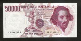 REPUBBLICA ITALIANA - BANCA D' ITALIA - 50000 Lire BERNINI - I° Tipo (Firme: Ciampi / Stevani) - [ 2] 1946-… : Repubblica