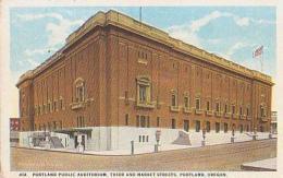 USA        192        Portland Public Auditorium , Third  And Market Streets - Portland