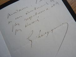 Georges LEYGUES (1857-1933) PRESIDENT Du CONSEIL. Maire VILLENEUVE Sur LOT. Ministre MARINE. Autographe - Autographes