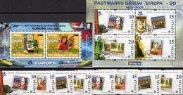 Sicherheitszähnung Lettland 652/9,Block 21+Mosambik Bl.202 ** 17€ Blocs Stamps On Stamps Sheets 50 Jahre CEPT 2006 - Europa-CEPT