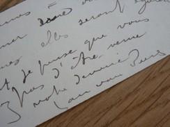 Jan VAN BEERS (1852-1927) PEINTRE Belge. Proche Alexandre STRUYS - Autographe - Autographes