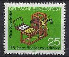 Germany (BRD) 1972  175 Jahre Flachdruckverfahnen (**) Mi.715 - [7] Federal Republic