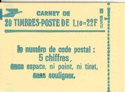 FRANCE - BOOKLET / CARNET, Yvert 2058-c1, 1979, 20 X 1.10 Sabine Green - Uso Corrente
