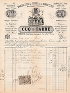 1884 - TOULOUSE (31) Rue Baour-Lormian - Manufacture De COTONS & BONNETERIE - Maison CUQ & FABRE - Historische Dokumente