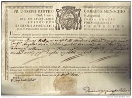 FR. JOSEPH BARTHO LOMAEUS MENOCCHIO ORD. EREMIT S. AUGUSTINI 1818  COD Doc.126 - Decreti & Leggi