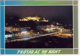 CYPRUS PROTARAS BY NIGHT LARGE FORMAT NICE STAMP - Cyprus