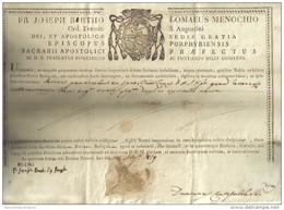 FR. JOSEPH BARTHO LOMAEUS MENOCCHIO ORD. EREMIT S. AUGUSTINI 1819  COD Doc.127 - Decreti & Leggi