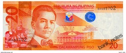 PHILIPPINES 20 PISO 2016G Pick 206 Unc - Philippines