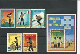 HAUTE-VOLTA  Scott 296, C160-C163, C164 Yvert 287, PA150-PA153, BF5K (5+bloc) O Cote 3,40$ 1973 - Haute-Volta (1958-1984)
