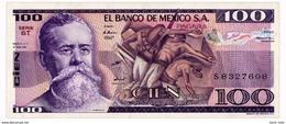 MEXICO 100 PESOS 1981 Pick 74a Unc - Mexico
