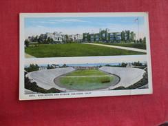 High School & Stadium  San Diego California Ref 2787 - Cartes Postales