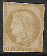 France: Colonies  1877, 15c Bistre,  Ceres, Imperf, Cut Into  Used, - Ceres