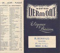 Marans Petit Calendrier Pulicitaire Bonnaud Bijoutier - France