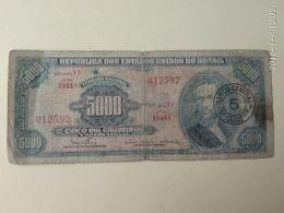 5000 Cruzeiros 1967 - Brazil