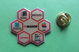 Pin's, Informatique, Informatik, MANOR, MICROSOFT, APPLE, LOGITECH, COMPAQ, ATHENA, HEWLETT PACKARD - Trademarks