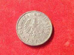 Münze Alliierte Besatzung Jaeger 373b 1 Reichspfennig 1945 F Zink Adler Neu Gestaltet - [ 5] 1945-1949 : Occupation