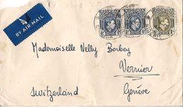MARCOPHILIE LETTRE PAR AVION NIGERIA TP NO 59 ET 66YT - Nigeria (1961-...)