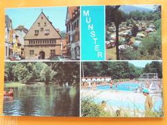 V04-C-67-68-haut Rhin-munster-hotel De Ville-camping- Plan D'eau-la Piscine -animee-multivues - Livres