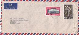 MARCOPHILIE LETTRE PAR AVION NIGERIA DE 1962  TP NO 135 ET 136 YT - Nigeria (1961-...)