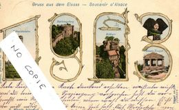 67 Bas-Rhin, Hoh--Königsburg, Année 1900, Composition Ed Schmitt Schirmeck - Francia