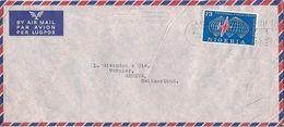MARCOPHILIE LETTRE PAR AVION NIGERIA DE 1961 KANO TP NO 112 YT - Nigeria (1961-...)