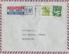 MARCOPHILIE LETTRE PAR AVION NIGERIA DE 1965 ABA TP NO 101 ET 104 YT - Nigeria (1961-...)