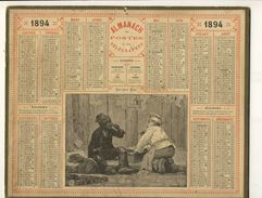 (CALENDRIER) ALMANACH 1894 Des Postes Et Telegraphes (les 2 Amis) - Calendari