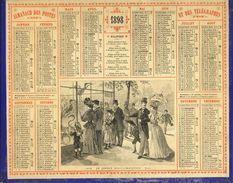 (CALENDRIER) ALMANACH 1898 Des Postes Et Telegraphes (le Jardin D Acclimatation) - Calendars
