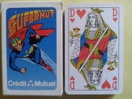 Supermut. Crédit Mutuel. Jeu Usagé De 32 Cartes Dans Sa Boite Cartonnée - 32 Cartes