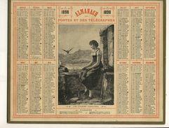 (CALENDRIER) ALMANACH 1898 Des Postes Et Telegraphes (les  Pigeons Familiers) - Calendars
