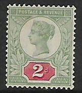 Great Britain Queen Victoria, Jubilee Issue, 1887, 2d Grey-green & Carmine, MH * - Ungebraucht