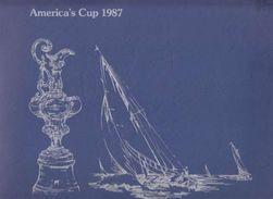 AMERICA'S CUP - 1987 OFFICIAL STAMPS -  CARNET SOUVENIR AVECFDC ET BLOC  FEUILLET - - Salomon (Iles 1978-...)