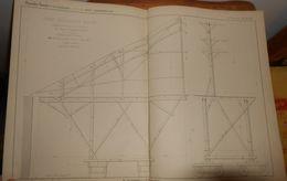 Plan D'un Grand échafaudage Roulant. Chemins De Fer D'Orléans. 1857. - Public Works