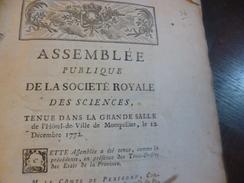 Assemblée Publique Société Royale Sciences 1772 Histoire Des Oiseaux Baron De Faugères + Intro 6 + 3 P - Documents Historiques