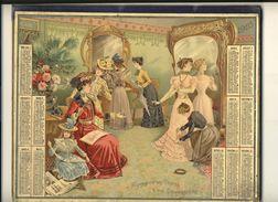 (CALENDRIER) ALMANACH 1903 Des Postes Et Telegraphes (chromo) Double - Calendars
