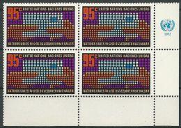 UNO NEW YORK 1972 Mi-Nr. 242 Eckrandviererblock ** MNH - New York -  VN Hauptquartier