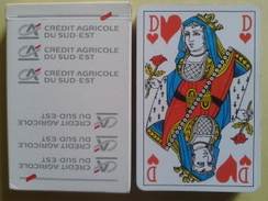 CREDIT AGRICOLE DU SUD-OUEST. Jeu Usagé De 32 Cartes Dans Sa Boite Cartonnée - 32 Karten