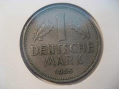 1 Deutsche Mark 1955 BUNDESREPUBLIK DEUTSCHLAND Coin Germany Allemagne - [ 7] 1949-… : RFA - Rép. Féd. D'Allemagne