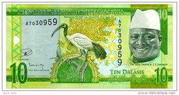 GAMBIA 10 DALASIS ND(2015) Pick 32 Unc - Gambia